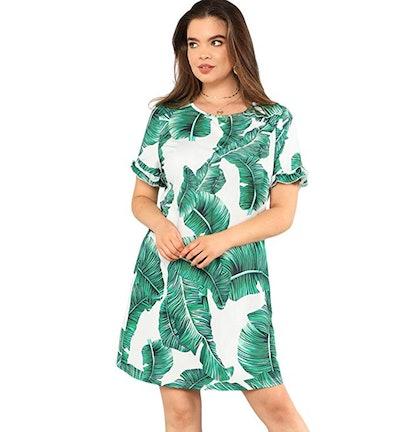 Floerns Short Sleeve Mini Dress
