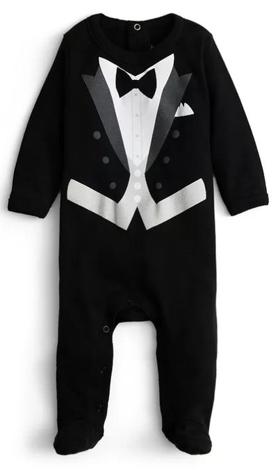 Boys' Black Tie Footie