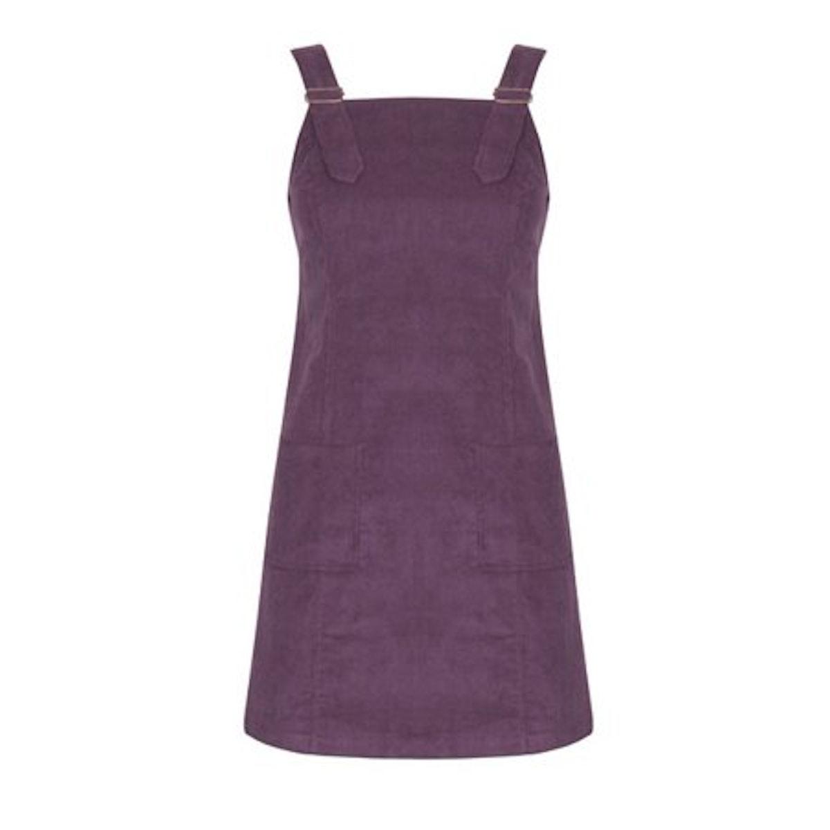Celmia Straight Suspender Strap Corduroy Mini Dress