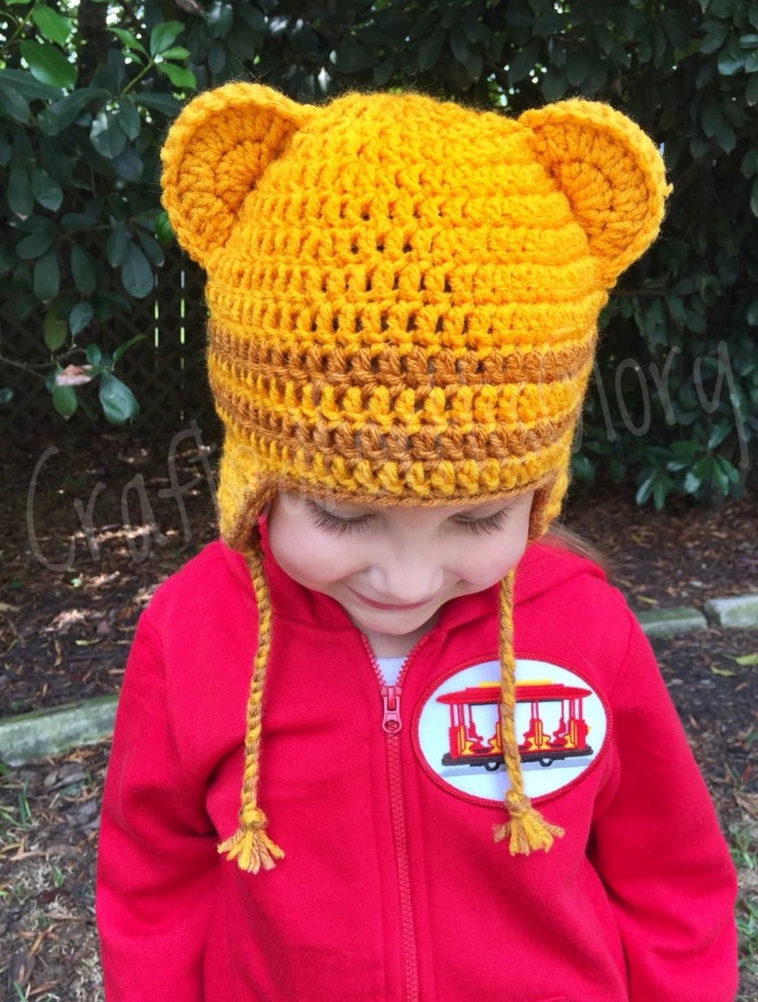 Daniel Tiger Tigey Margaret hat crochet pattern PDF. English | Etsy | 1454x1100