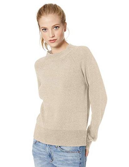 Daily Ritual 100% Cotton Mock-Neck Sweater