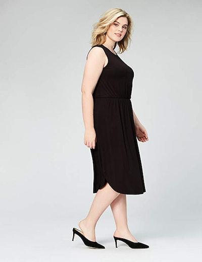 Daily Ritual Plus Size Jersey Sleeveless Gathered Dress