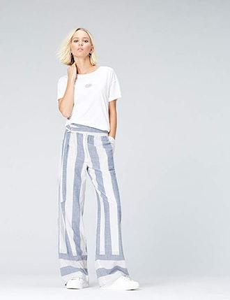 find. Women's Striped Wide Leg Pants