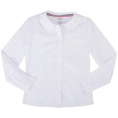 School Uniform Shirt With Peter Pan Collar