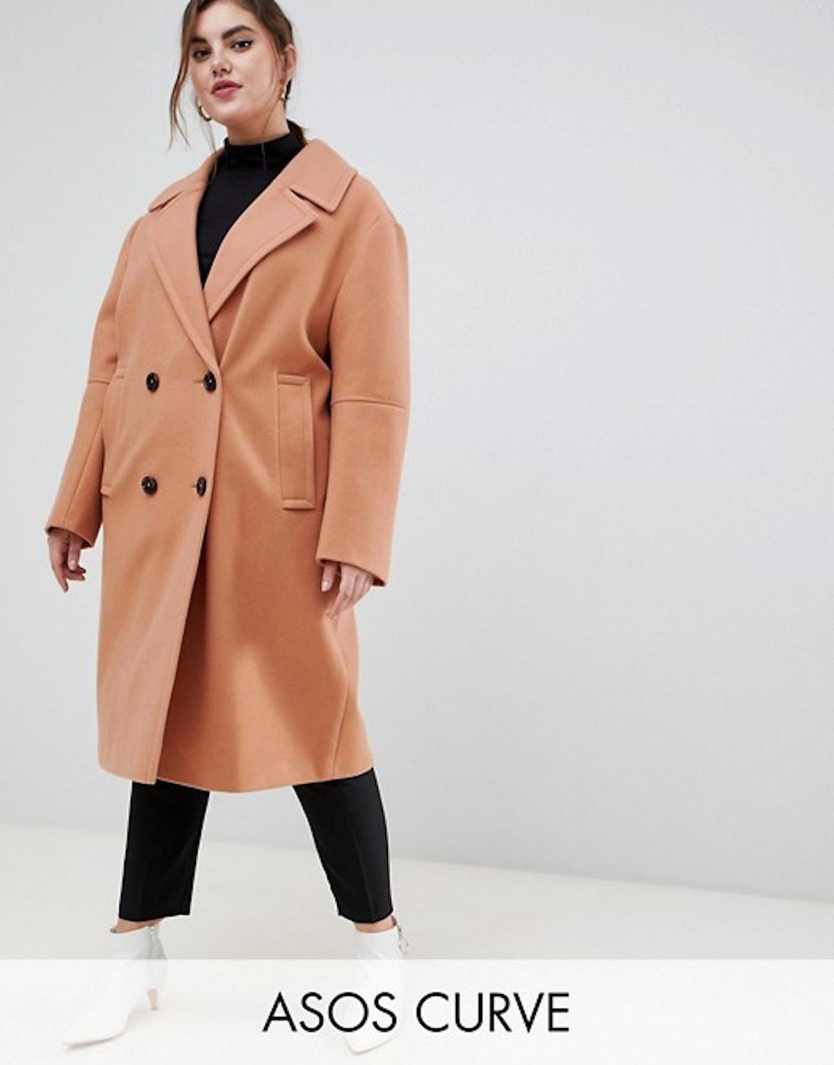 ASOS DESIGN Curve classic coat