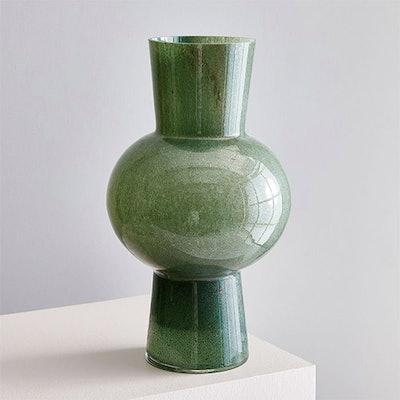 Jade Colored Glass Vase