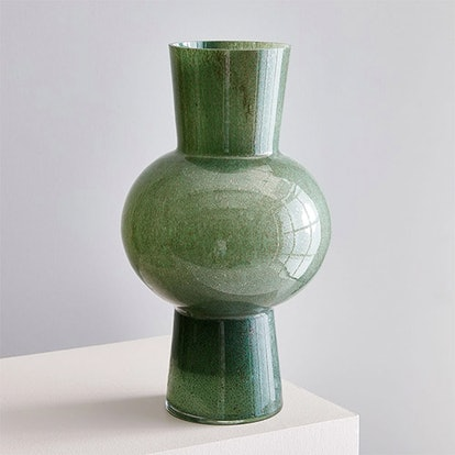 Jade Colored Glass Vase