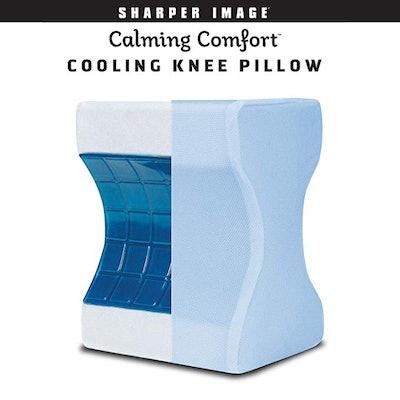 Sharper Image Calming Comfort Cooling Knee Pillow