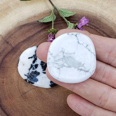 White Howlite Worry Stone