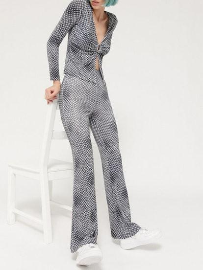 Clarissa Printed High-Rise Flare Pant