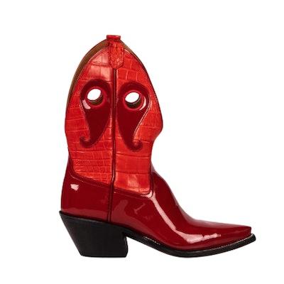 New West Cardinal Patent + Croc Mix
