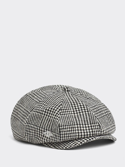 Houndstooth Check Paperboy Hat