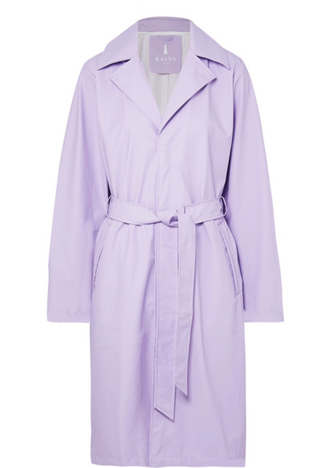 RAINS Matte-PU trench coat