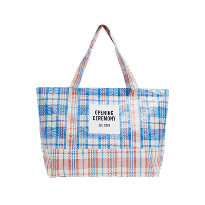 Dual Colour Medium Check Tote