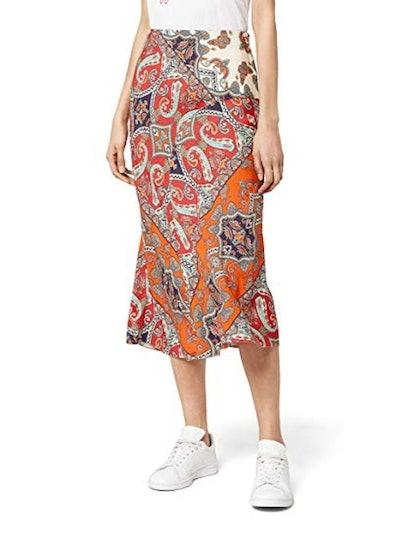 find. Printed Midi Skirt