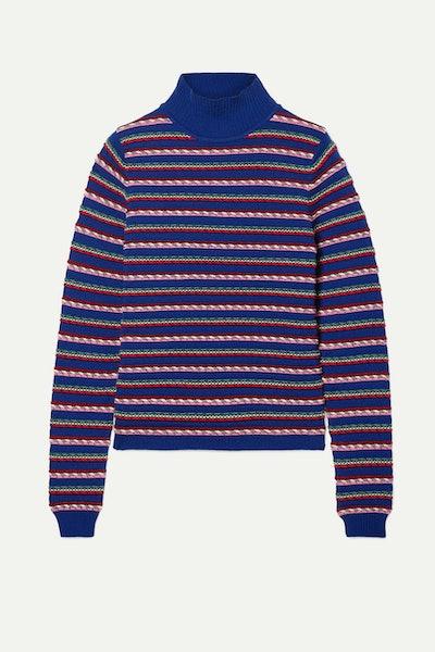 Striped Wool Turtleneck