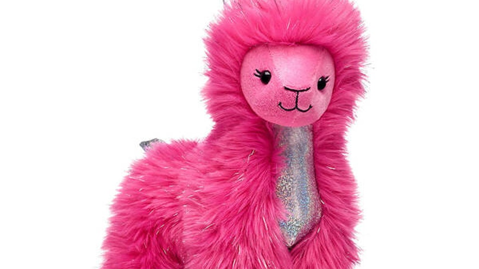 build-a-bear's pink shear sparkle llama
