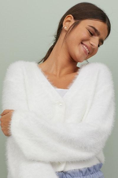 Fine-knit cardigan
