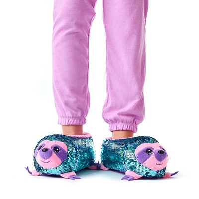 Sloth Sequin Slippers