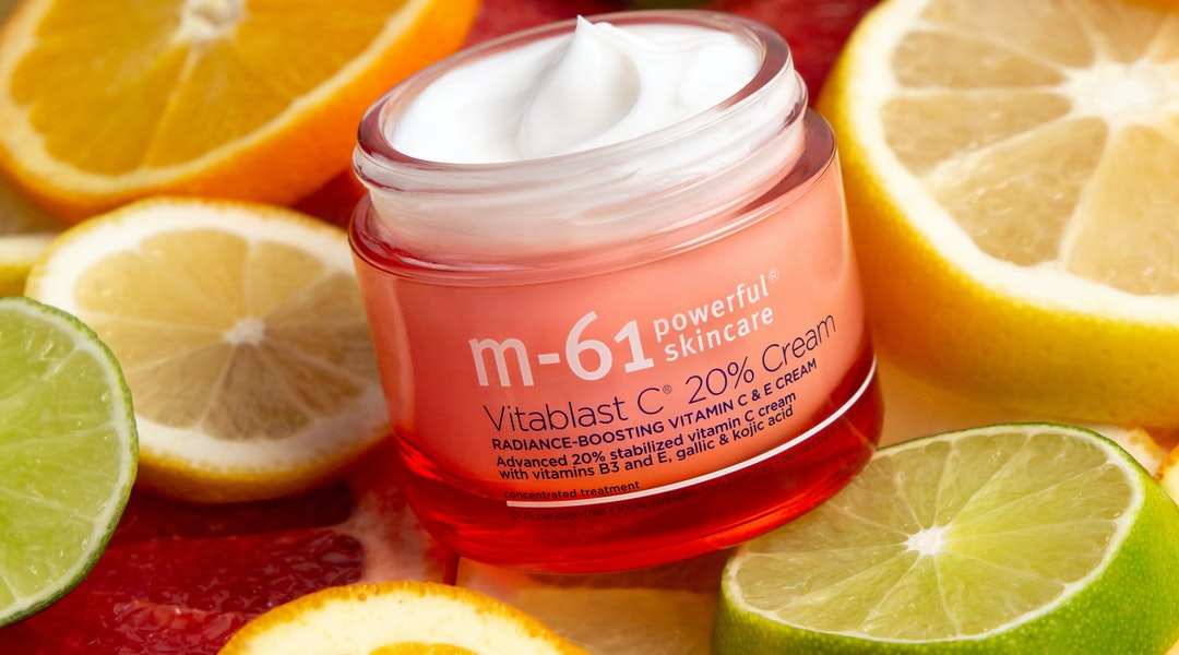M-61's new Vitablast C 20% Cream packs a powerful dose of vitamin C, for brightening benefits like never before.