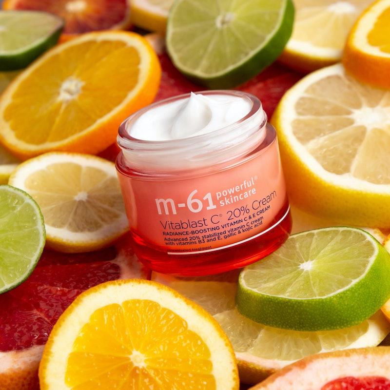 M-61's new Vitablast C 20% Cream packs a powerful dose of vitamin C, for brightening benefits like never before.