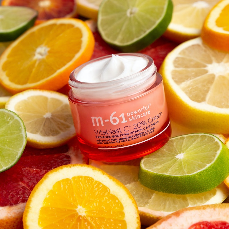 M-61's new Vitablast C 20% Cream packs a powerful dose of vitamin C, for brightening benefits like n...