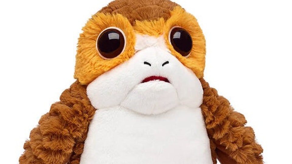 stuffed porg character from build-a-bear