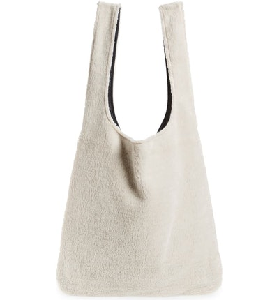 Reversible Recycled Polyester Fleece & Recycled Nylon Tote