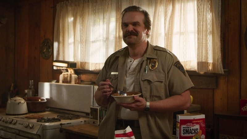 "David Harbour Isn't Sure Hopper Is ""The American"" On 'Stranger Things' Anymore"