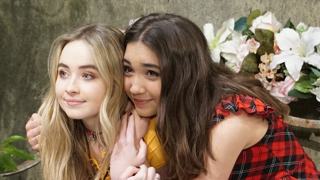 Best friends Rowan Blanchard and Sabrina Carpenter on the set of 'Girl Meets World.'