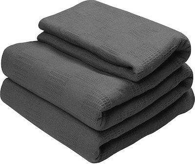 Utopia Bedding Premium 100% Cotton Blanket (Full/Queen)