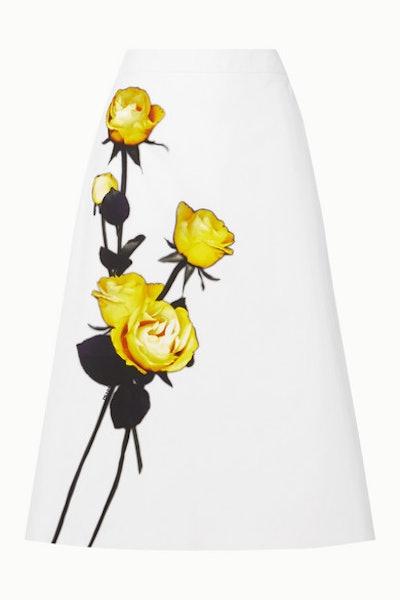 Floral-Print Skirt