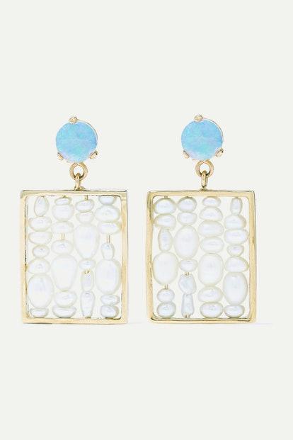 Pearl and Opal Earrings