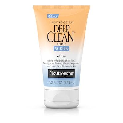 Neutrogena Deep Clean Gentle Facial Scrub, Oil free Cleanser 4.2 fl. oz