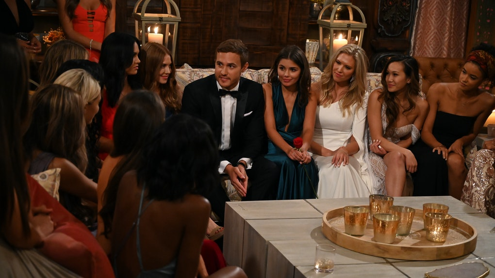 Peter and the contestants on 'The Bachelor'