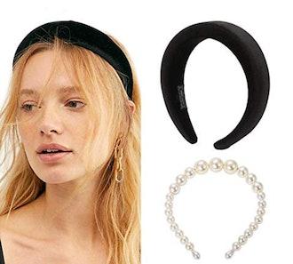 POPINK Velvet Padded Headbands (Set of 2)