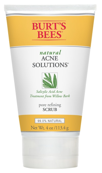 Burts Bees Natural Acne Solutions -Pore Refining Scrub, Exfoliating Face Wash for Oily Skin, 4 Ounces