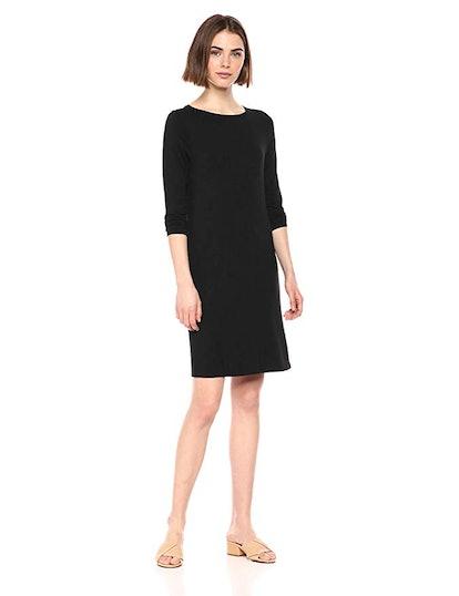 Amazon Essentials Women's 3/4 Sleeve Boatneck Dress