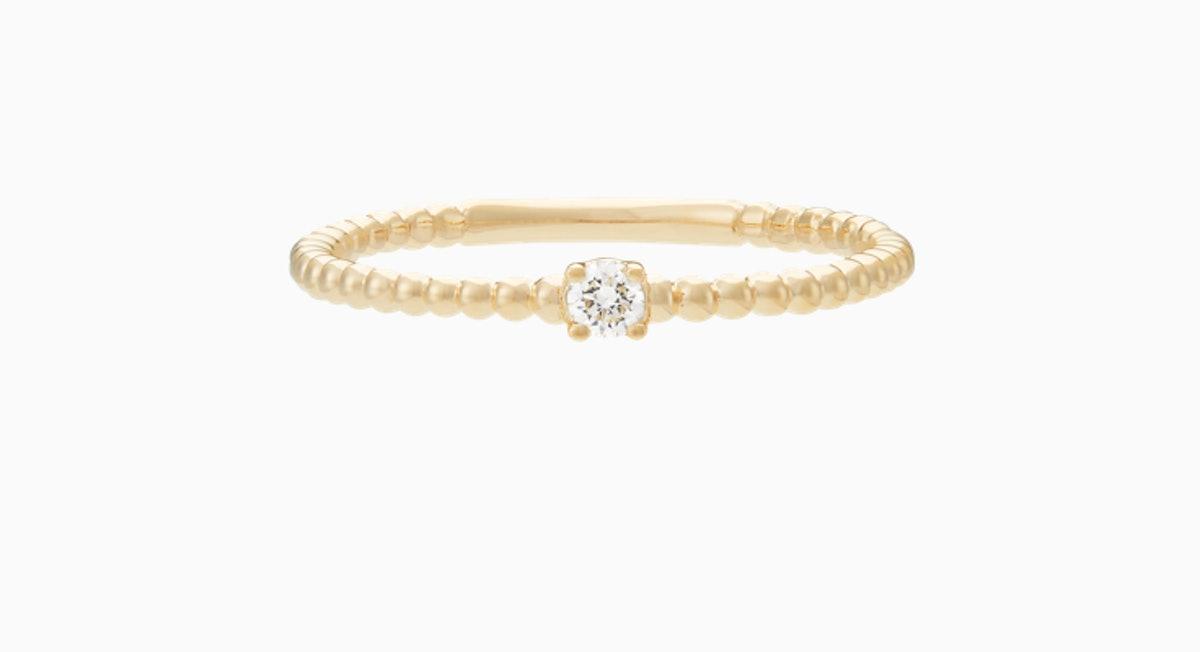 Diamond Beaded Ring