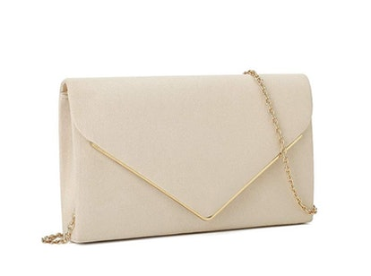 Charming Tailor Faux Suede Clutch