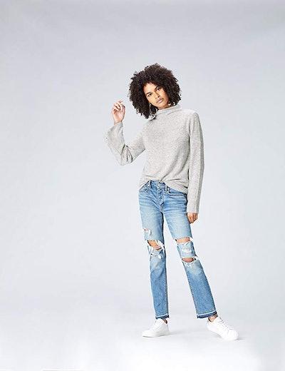 Amazon Brand - find. Women's High Neck Sweater