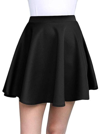 Made By Johnny Women's Basic Mini Skater Skirt