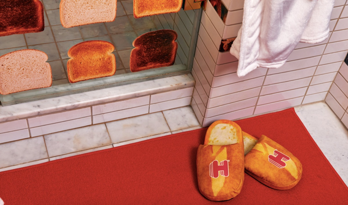 Hotels.com's Bread and Breakfast Hotel includes free bread slippers.