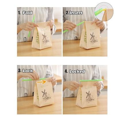 Bag Sealer Sealing Clips Sticks Chips (30-Pack)