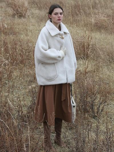 Shearing Wool Coat Ivory