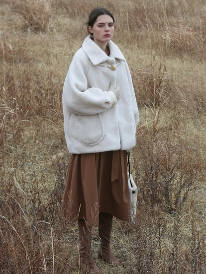 Shearing Wool Coat Ivory