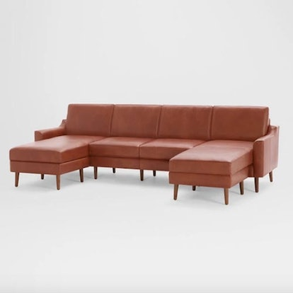 Nomad Leather Double Chaise Sectional