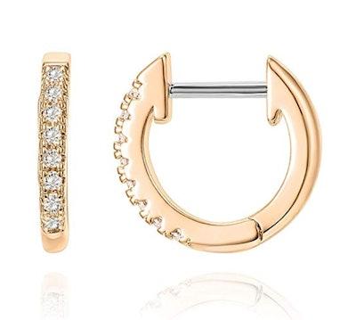 PAVOI 14K Gold Cubic Zirconia Cuff Earrings