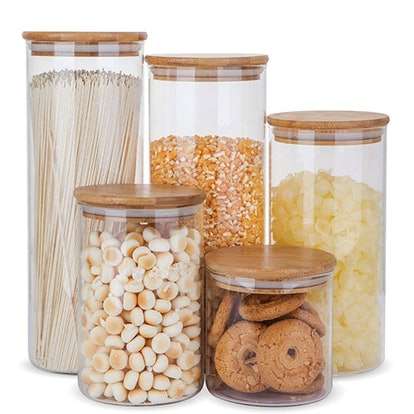 Glass Food Storage Containers, Set Of 5