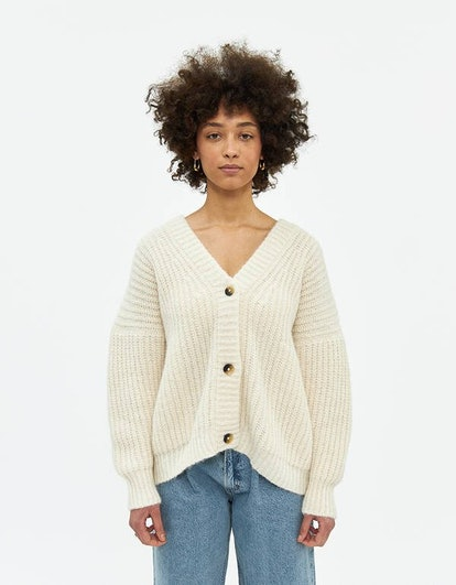 Grandma Cardigan in Raw White